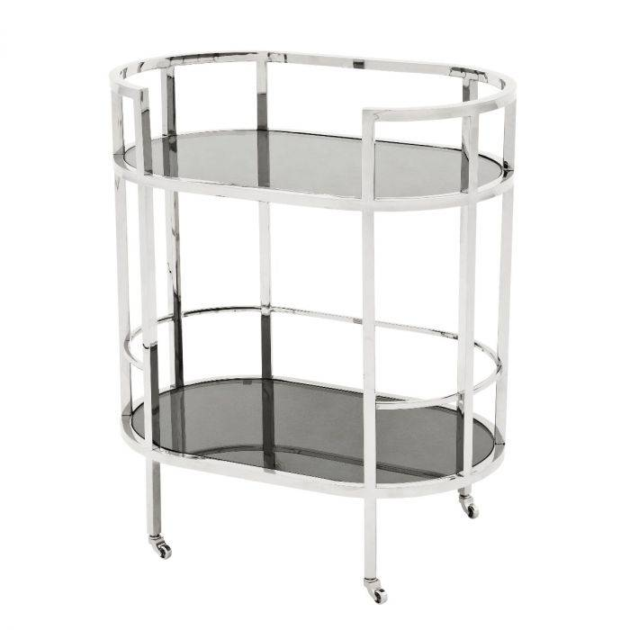 Townhouse Stainless Steel Bar Trolley by Eichholtz