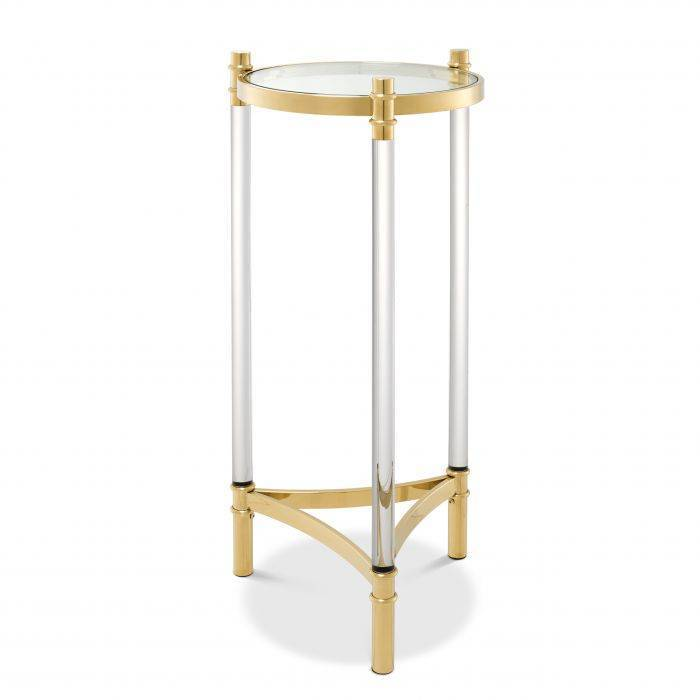Trento Gold Finish Side Table by Eichholtz