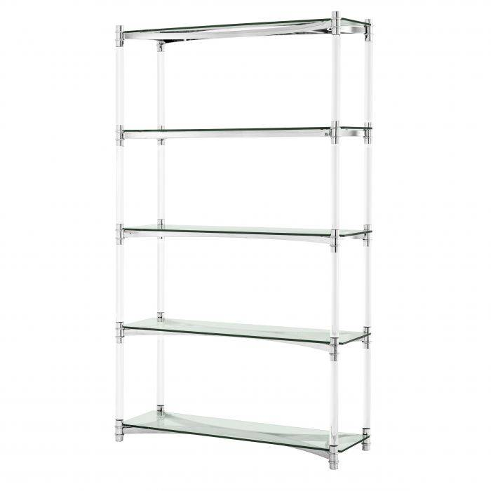 Trento Stainless Steel Bookcase by Eichholtz