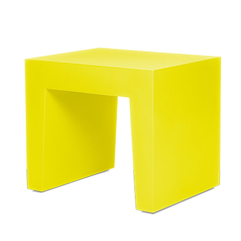 Concrete Seat Dijon Yellow Footstool by Fatboy