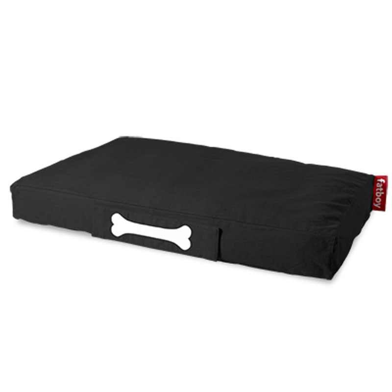 Doggie Stonewashed Large Black Lounger by Fatboy