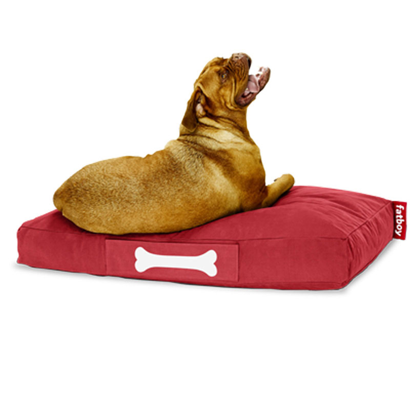 Doggie Stonewashed Large Red Lounger by Fatboy