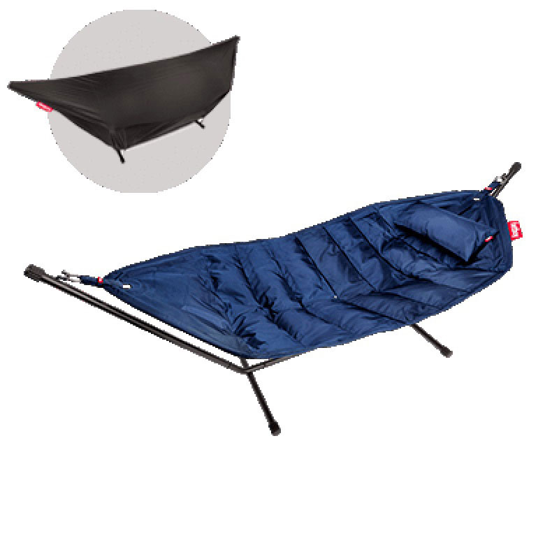 Headdemock Deluxe Hammock With Frame Pillow And Cover Dark Blue by Fatboy