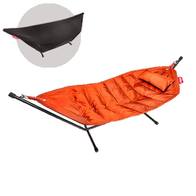 Headdemock Deluxe Hammock With Frame Pillow And Cover Orange by Fatboy