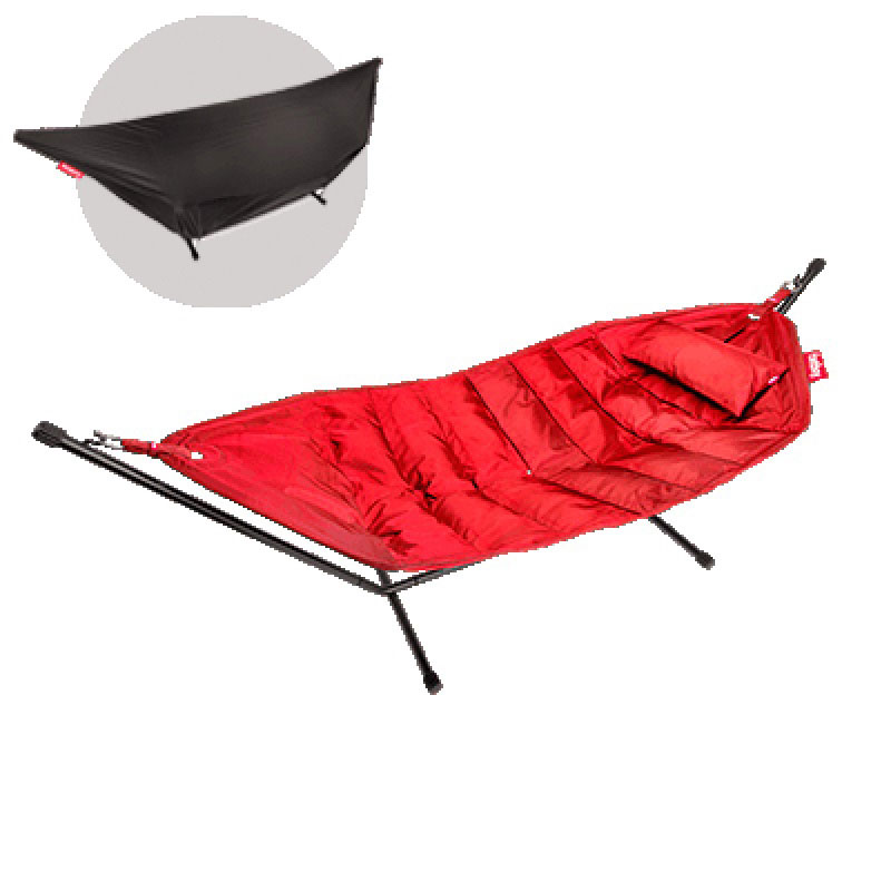 Headdemock Deluxe Hammock With Frame Pillow And Cover Red by Fatboy