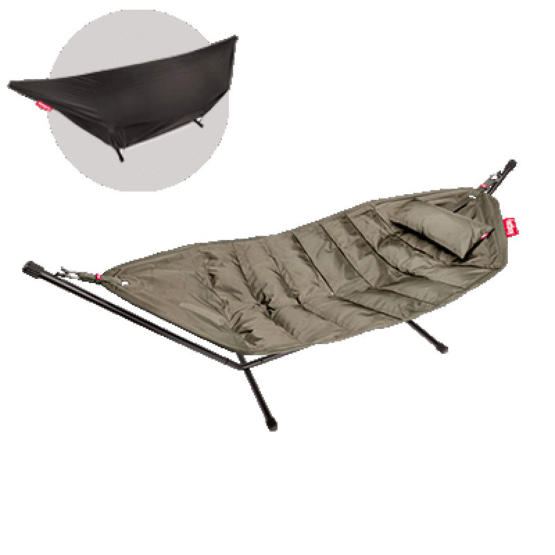 Headdemock Deluxe Hammock With Frame Pillow And Cover Taupe by Fatboy