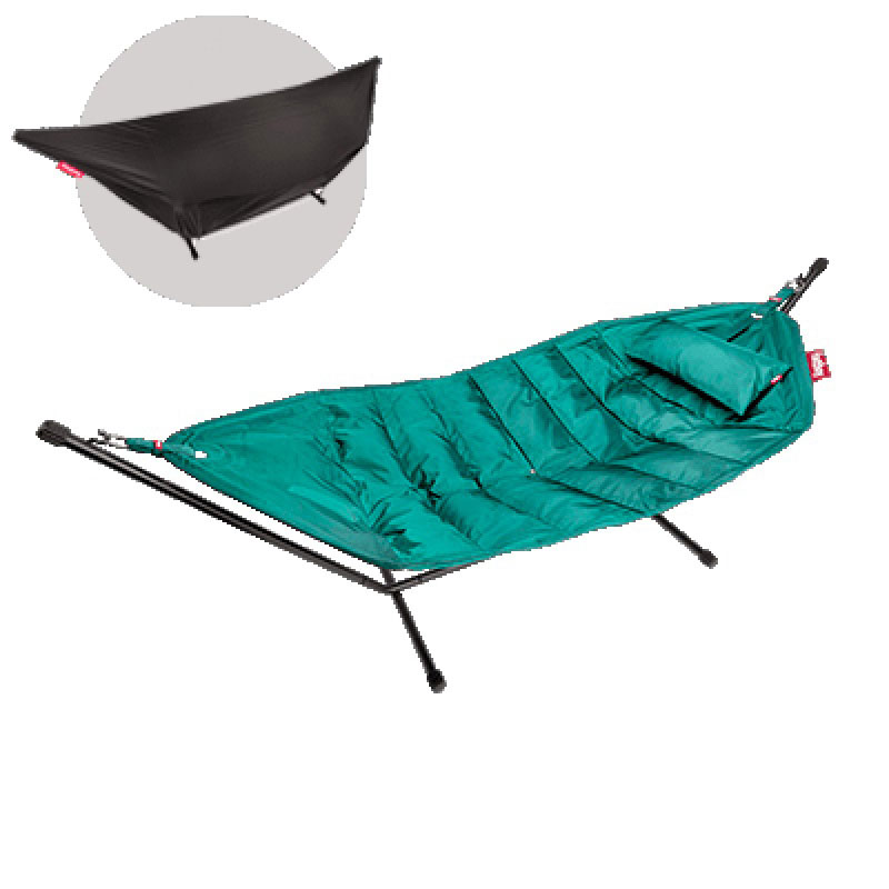 Headdemock Deluxe Hammock With Frame Pillow And Cover Turquoise by Fatboy