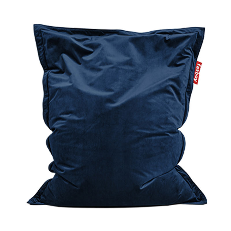 Original Slim Velvet Dark Blue Bean Bag by Fatboy