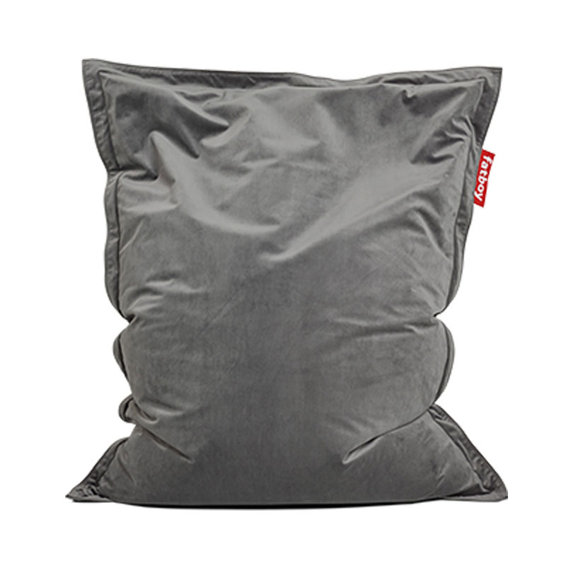 Original Slim Velvet Taupe Bean Bag by Fatboy