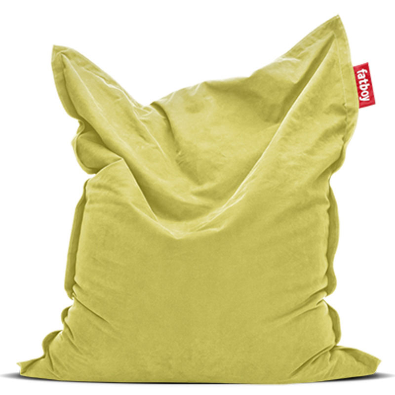 Original Stonewashed Lime Green Bean Bag by Fatboy