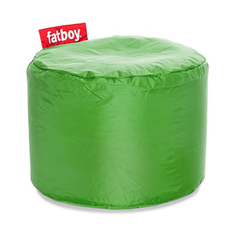 Point Nylon Grass Green Pouf by Fatboy