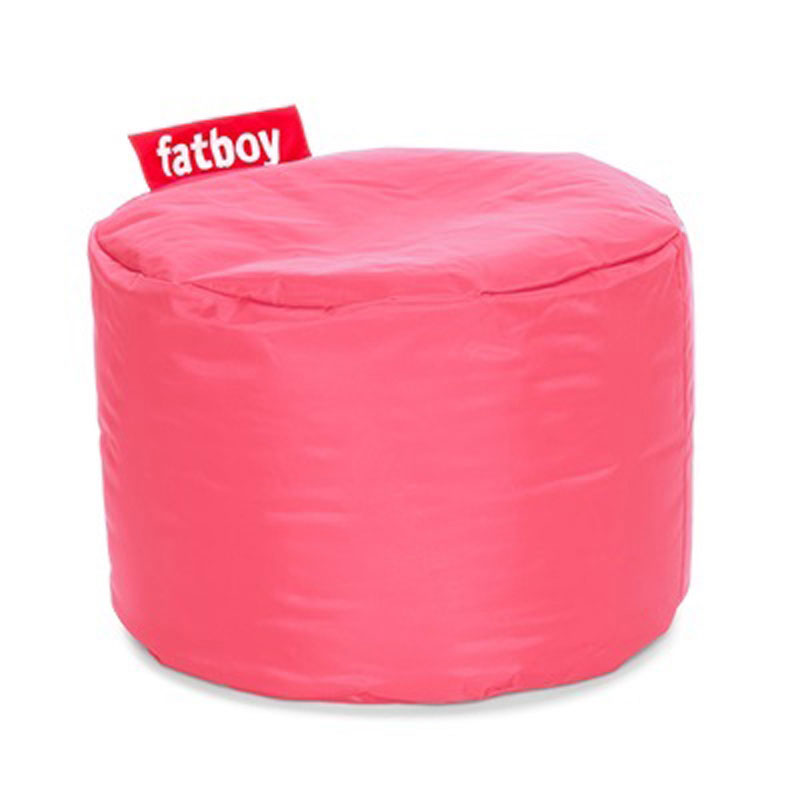 Point Nylon Light Pink Pouf by Fatboy
