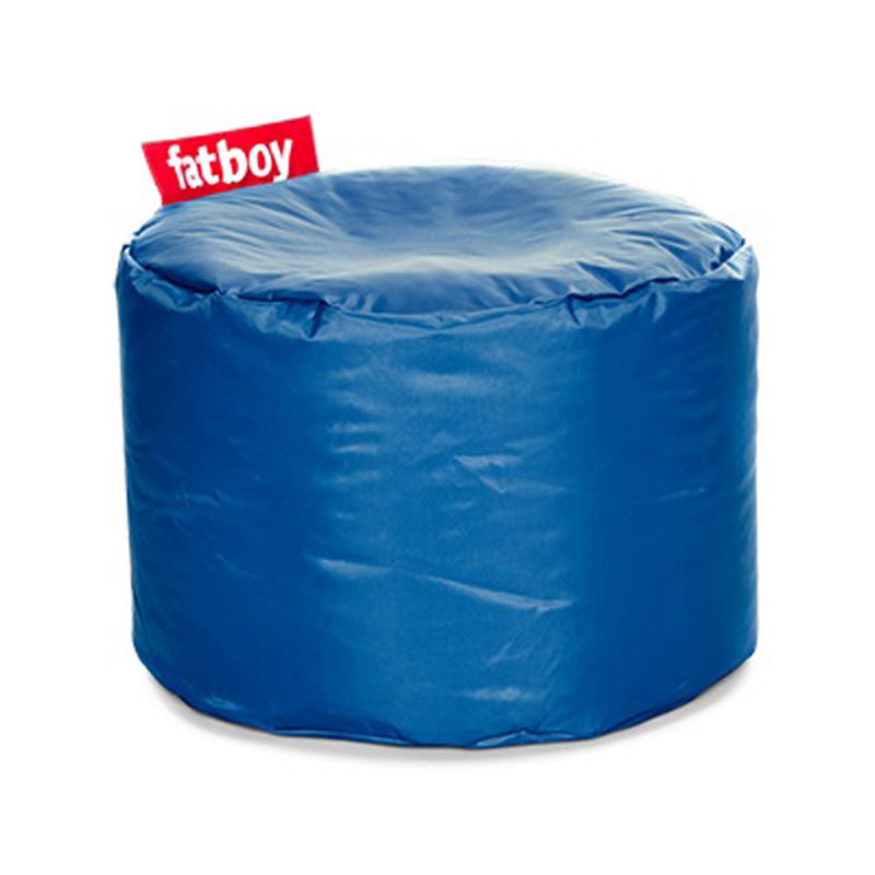 Point Nylon Petrol Pouf by Fatboy
