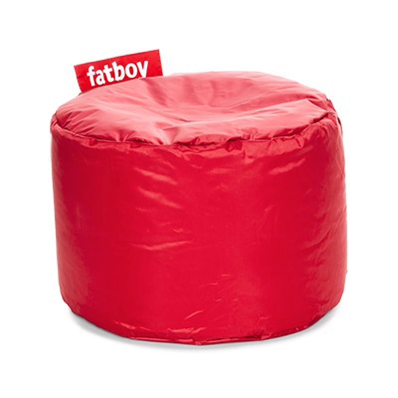 Point Nylon Red Pouf by Fatboy