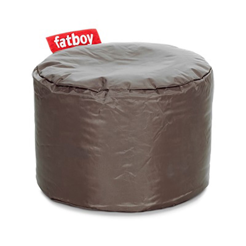 Point Nylon Taupe Pouf by Fatboy