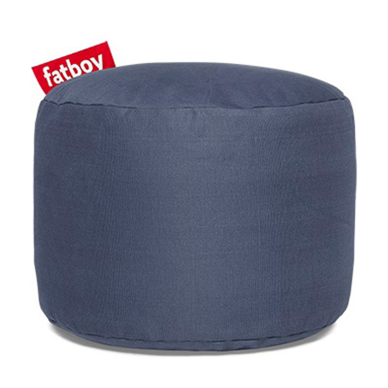 Point Stonewashed Blue Pouf by Fatboy