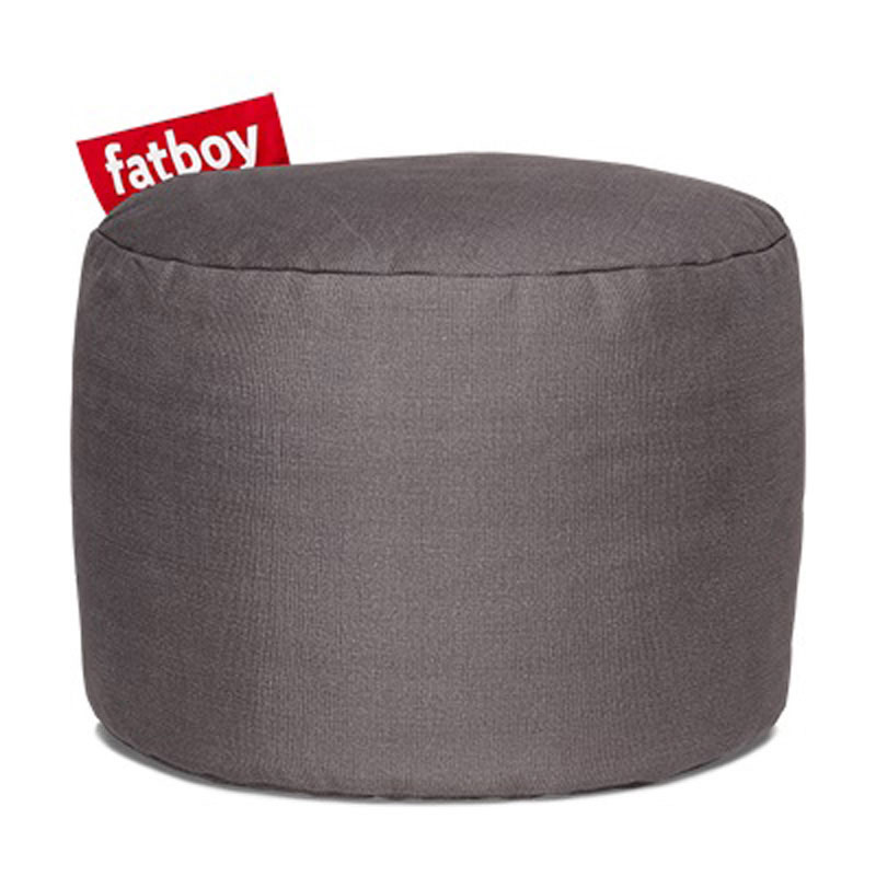 Point Stonewashed Grey Pouf by Fatboy