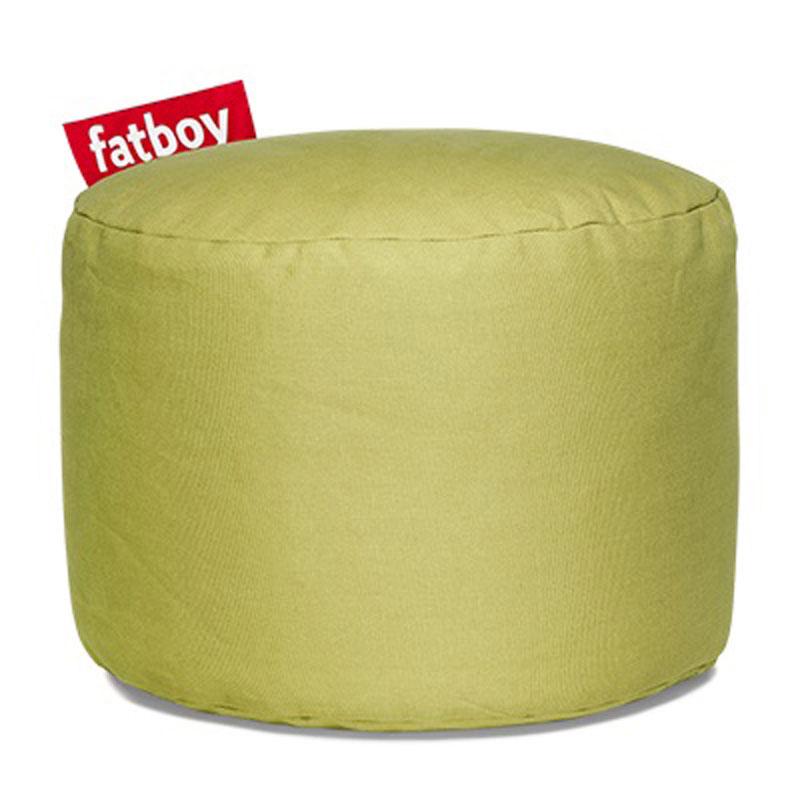 Point Stonewashed Lime Green Pouf by Fatboy
