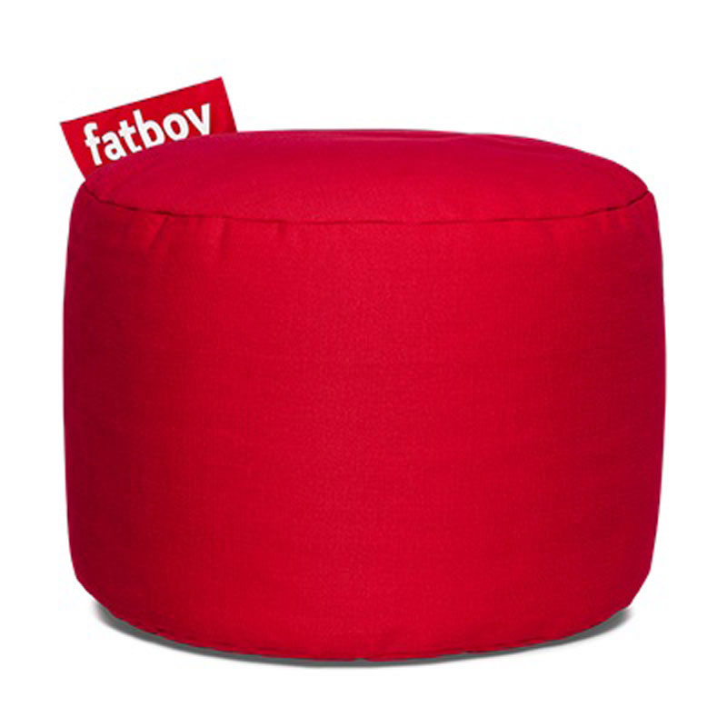 Point Stonewashed Red Pouf by Fatboy