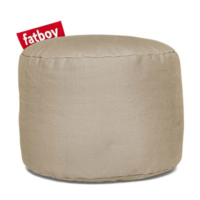 Point Stonewashed Sand Pouf by Fatboy