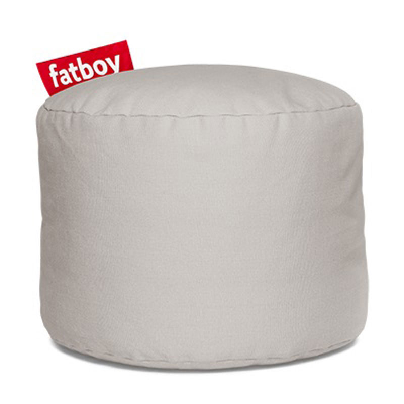 Point Stonewashed Silver Grey Pouf by Fatboy