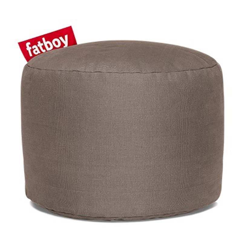Point Stonewashed Taupe Pouf by Fatboy