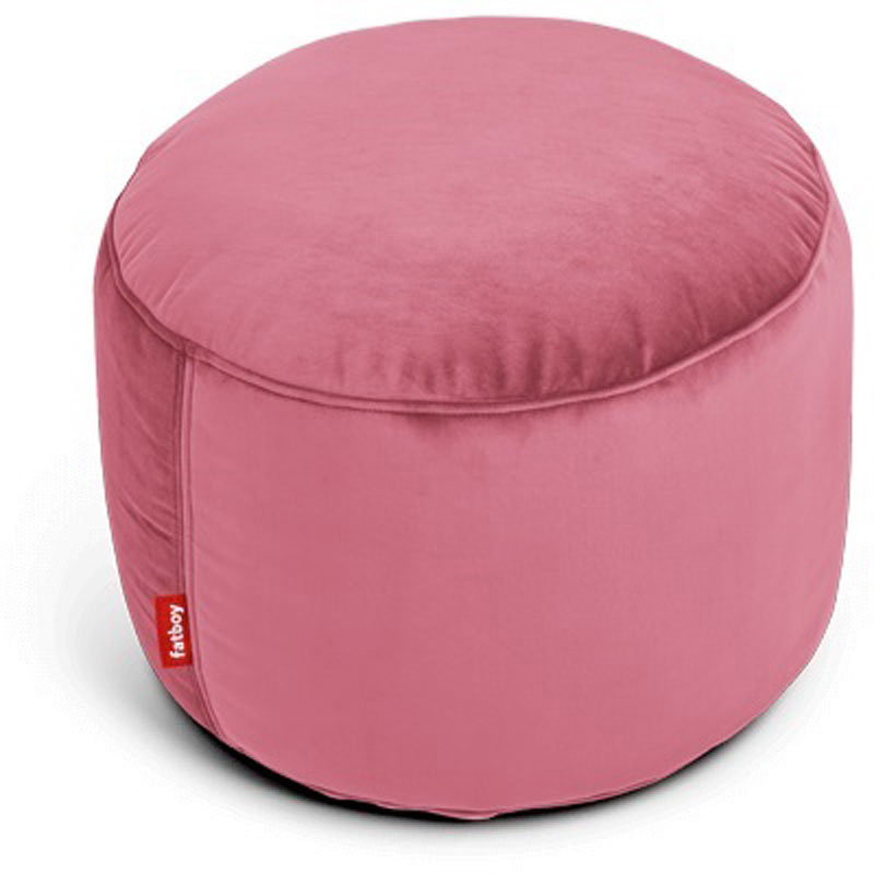 Point Velvet Deep Blush Pouf by Fatboy