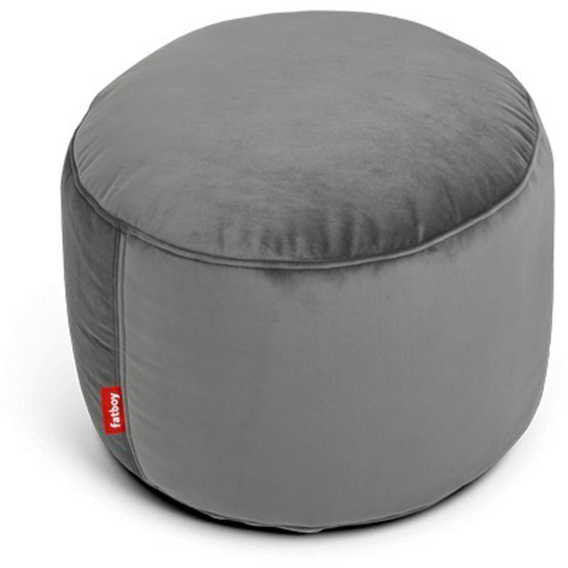 Point Velvet Taupe Pouf by Fatboy