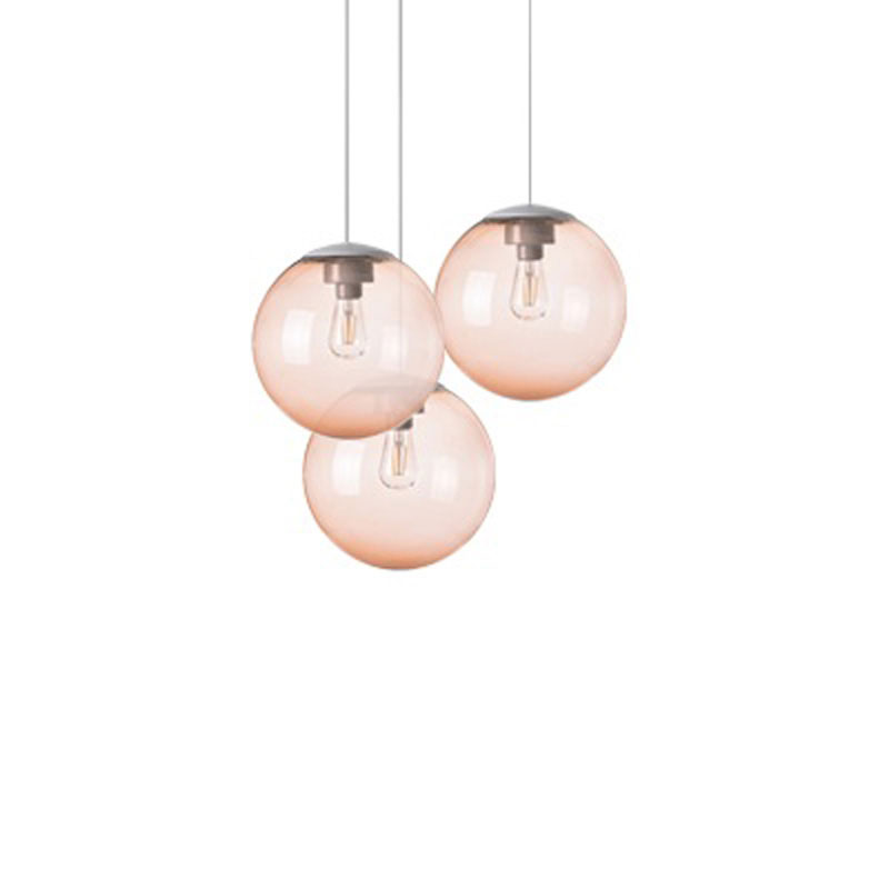 Spheremaker 3 Light Brown Pendant Lamp by Fatboy