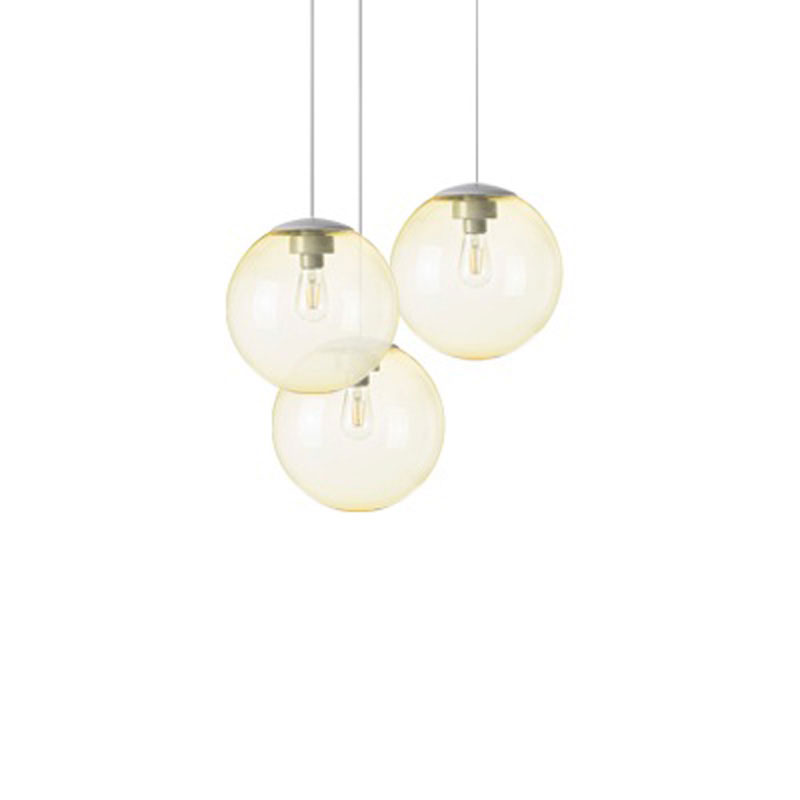 Spheremaker 3 Light Yellow Pendant Lamp by Fatboy