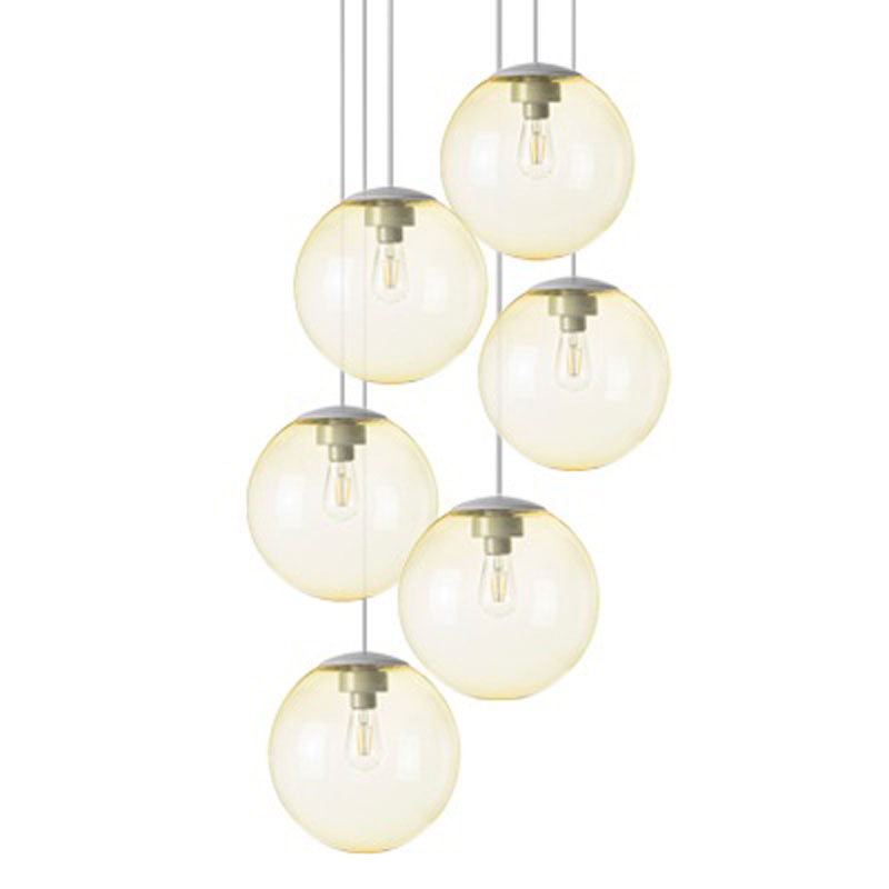 Spheremaker 6 Light Yellow Pendant Lamp by Fatboy