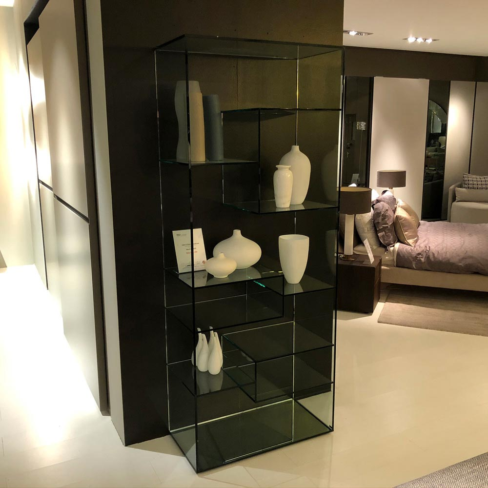 Liber A Glass Bookcase by Tonelli Design | FCI Clearance