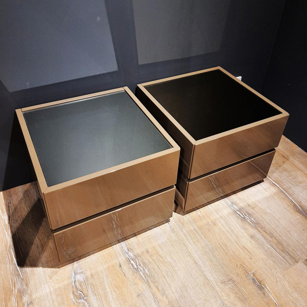 Pair of Cidori Bedside 2 Drawers by Logo | FCI Clearance