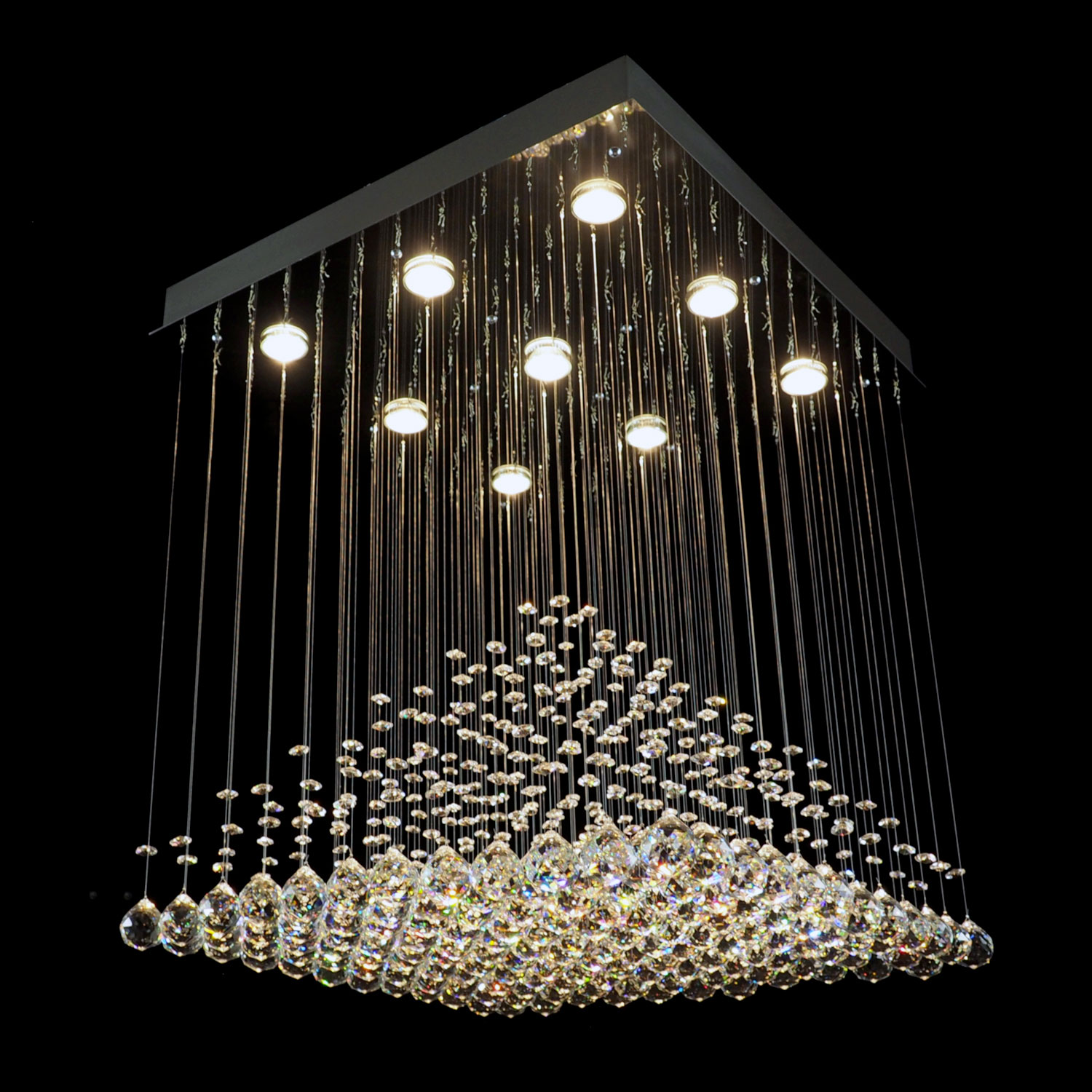 Atzec Crystal Chandelier | FCI Custom Lighting