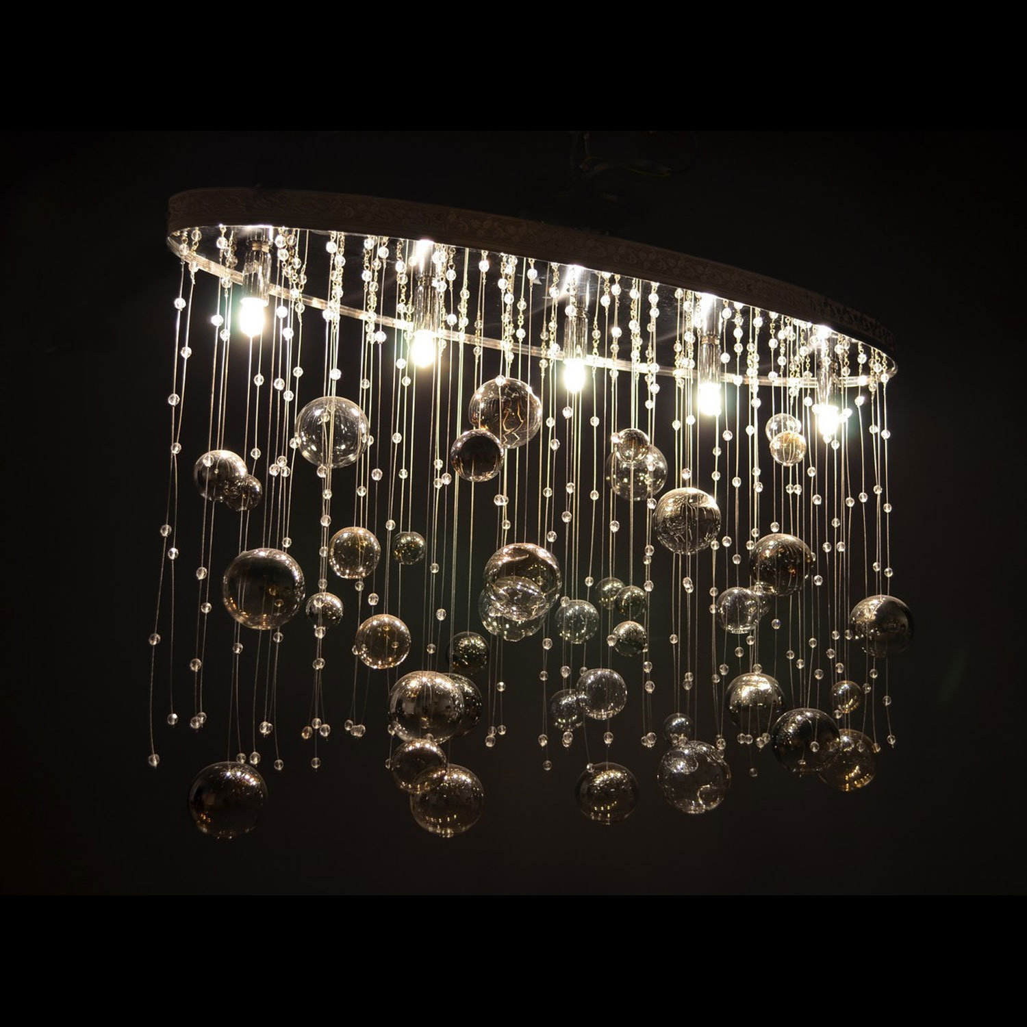 Bolle Di Crystal Chandelier | FCI Custom Lighting