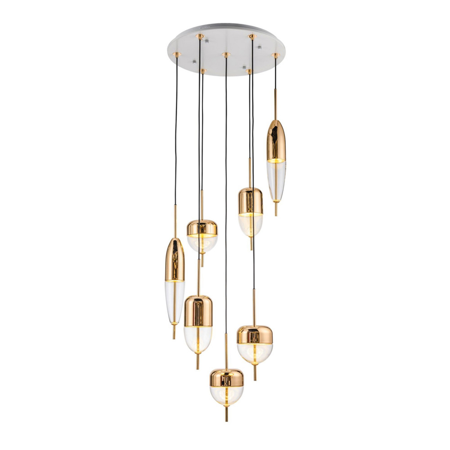 Bullet Rose Gold Pendant Lamp | FCI Custom Lighting