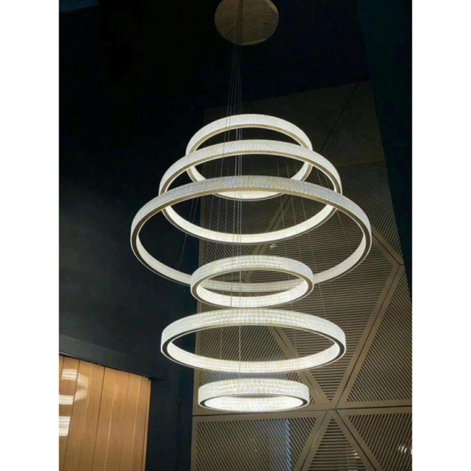 Rings Chandelier | FCI Custom Lighting