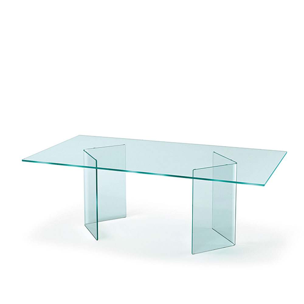 Corner Dining Table by Fiam Italia