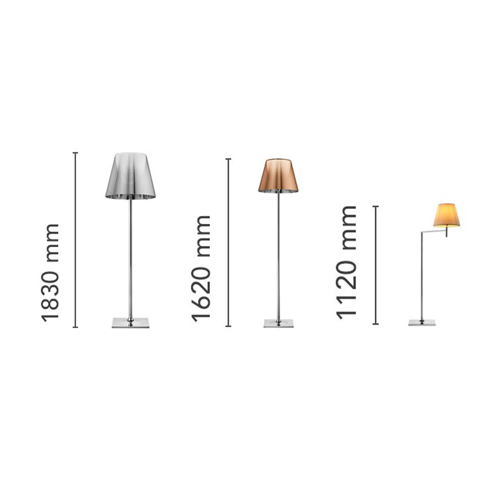 Noctambule 4 High Cylinders Floor Lamp by Flos
