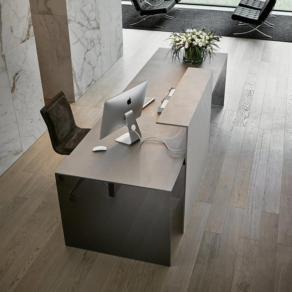 Air Modesty Office Desk by Gallotti & Radice