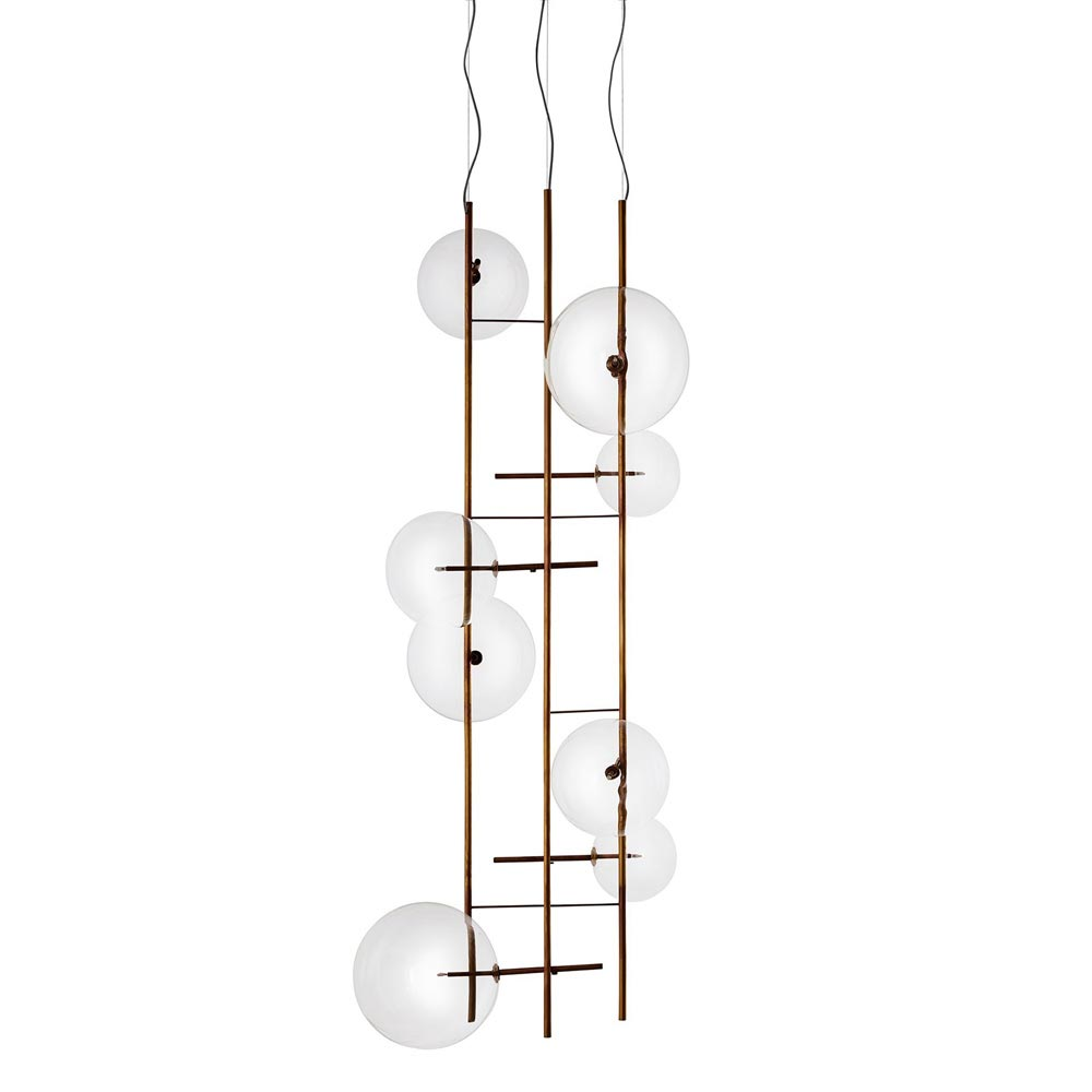 Canvas Bubbles Suspension Lamp by Gallotti & Radice