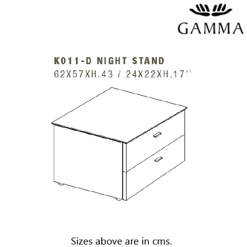 K011-D Bedside Table by Gamma & Dandy