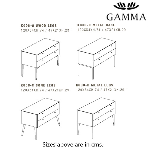 K008-D Dressing Table by Gamma & Dandy