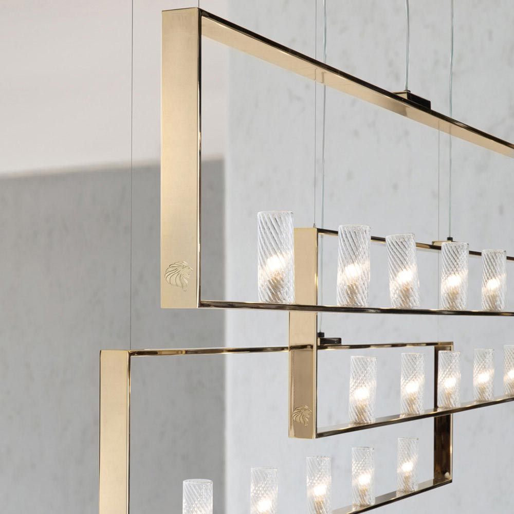 Charisma Rectangular Chandelier by Giorgio Collection