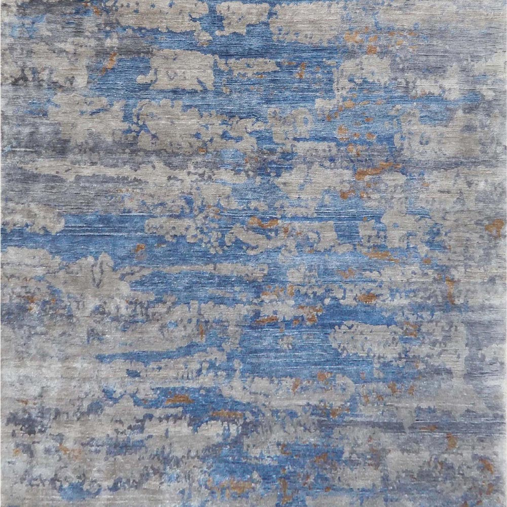 Blue Cloud Rug by Knot and Loop