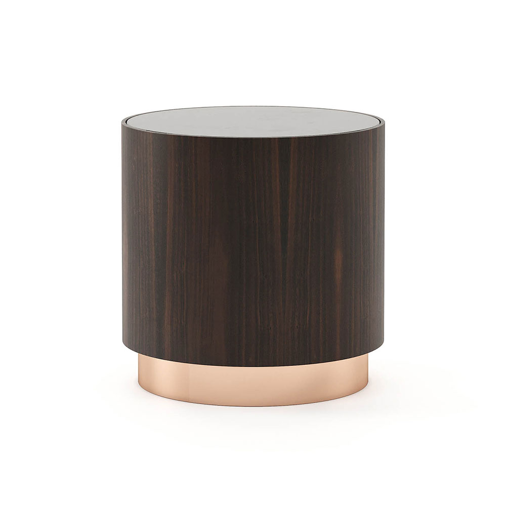 Gold Side Table by Laskasas
