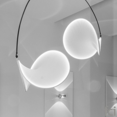 02 White Suspension Lamp by Llll Light