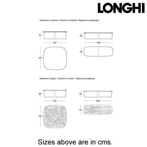 Omega Coffee Table by Longhi