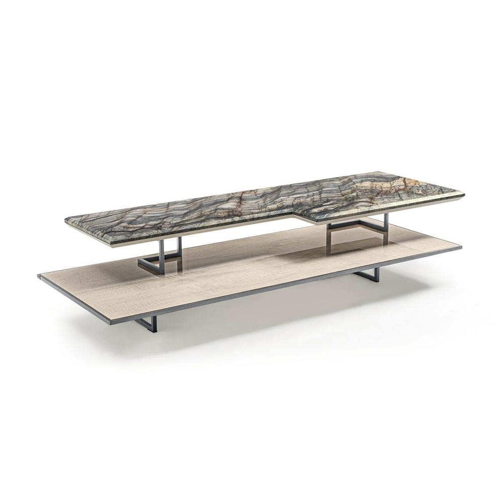 Walt Rectangle Coffee Table by Longhi
