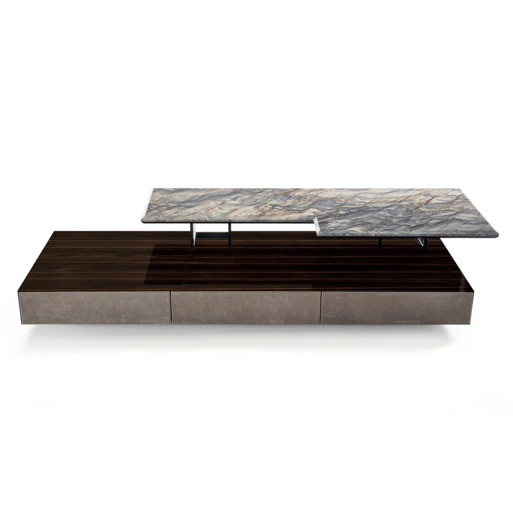 Walt With Drawer Coffee Table by Longhi
